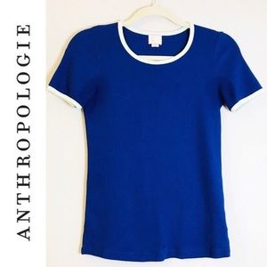 Anthropologie | Postmark Ribbed Crew Neck Top